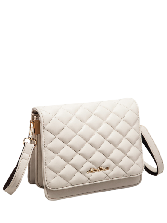 online Faux Leather Quilted Crossbody Bag - OFF-WHITE