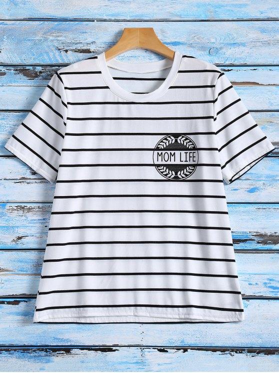 sale Striped Graphic T-Shirt - STRIPE XL
