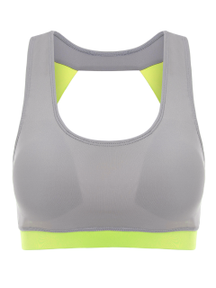 Running Color Block Sports Top - Neon Green M