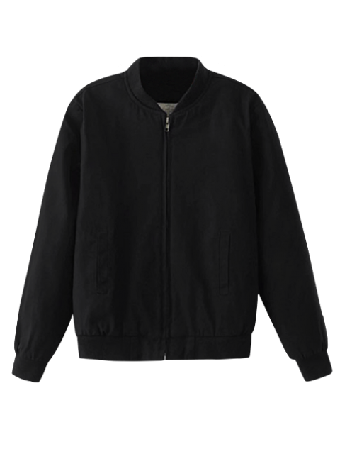 lady Thick Bomber Jacket - BLACK M Mobile