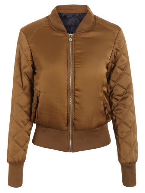 outfit Stand Neck Quilted Jacket - GINGER XL Mobile