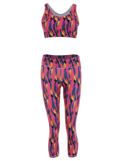 Printed Bra and Capri Leggings Set