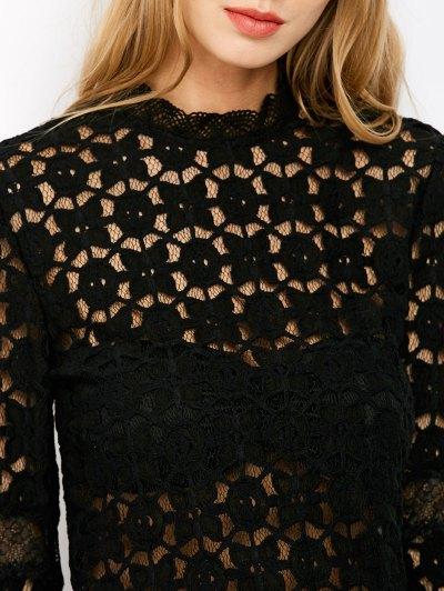 Bell Sleeve Sheer Lace Crop Top от Zaful.com INT