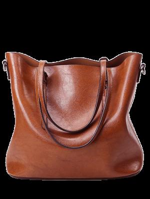 Buckles PU Leather Metal Shoulder Bag