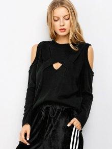 Découpez Out Cold Shoulder Sweater - Noir Xl