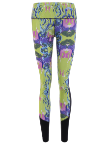 Printed Cropped Sports Leggings