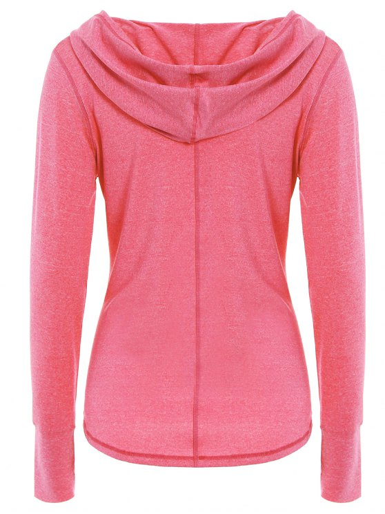 Space Dye Hooded Sports T-Shirt - FLUORESCENT PINK M Mobile