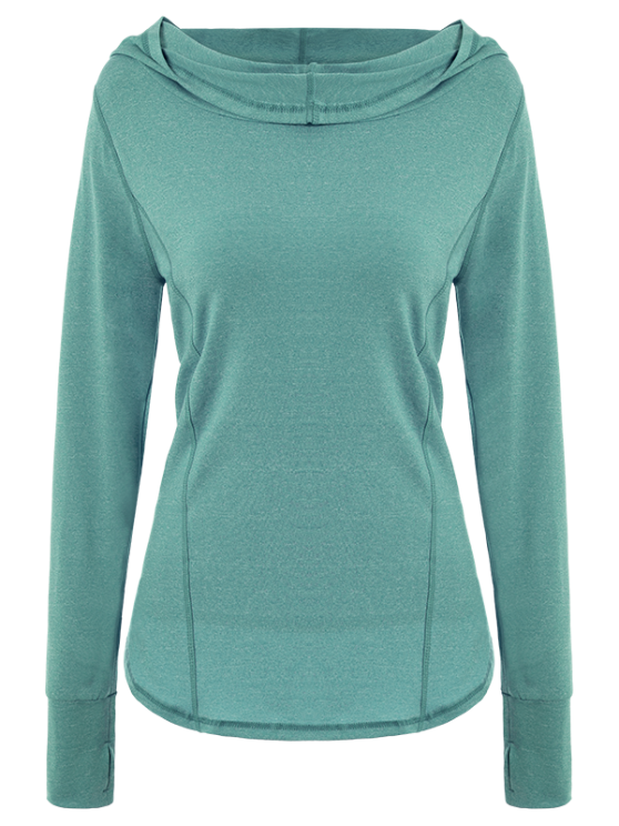 Space Dye Hooded Sports T-Shirt - VERDIGRIS L Mobile