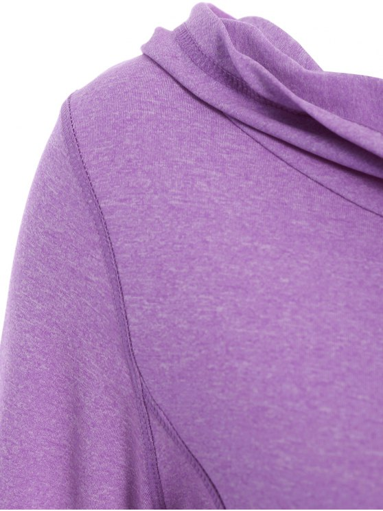 Space Dye Hooded Sports T-Shirt - PURPLE L Mobile