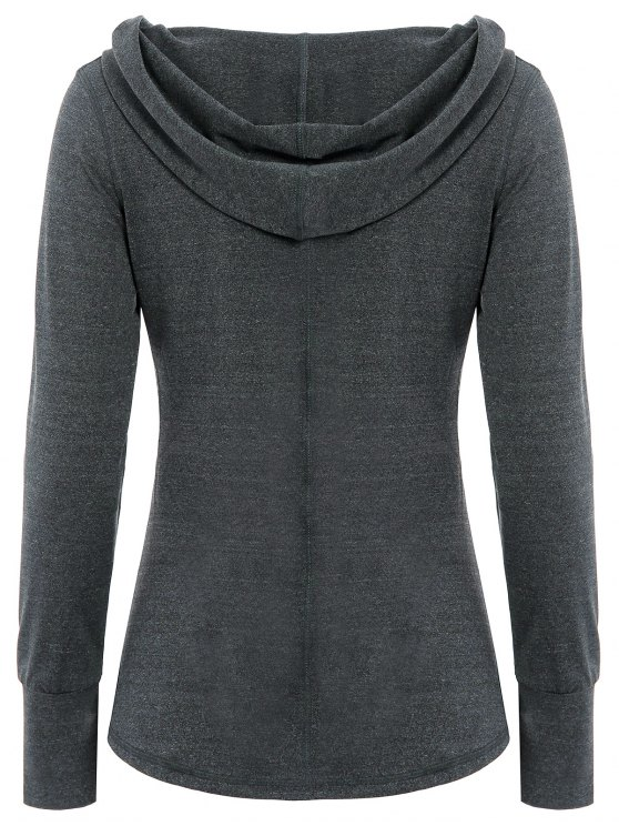 Space Dye Hooded Sports T-Shirt - SMOKY GRAY M Mobile