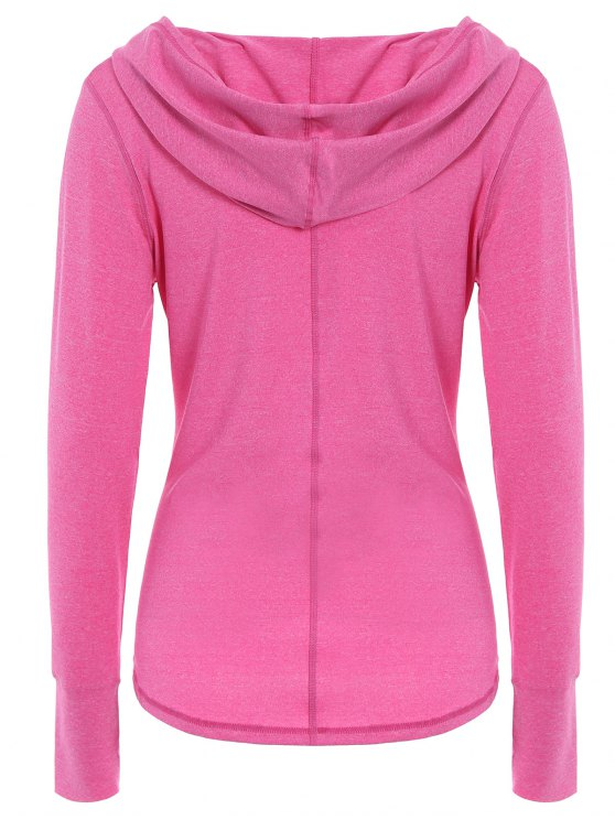 Space Dye Hooded Sports T-Shirt - ROSE RED S Mobile