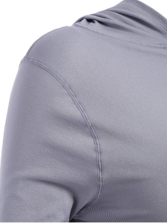 Activewear Ombre Zip Up Hoodie - BLACK S Mobile