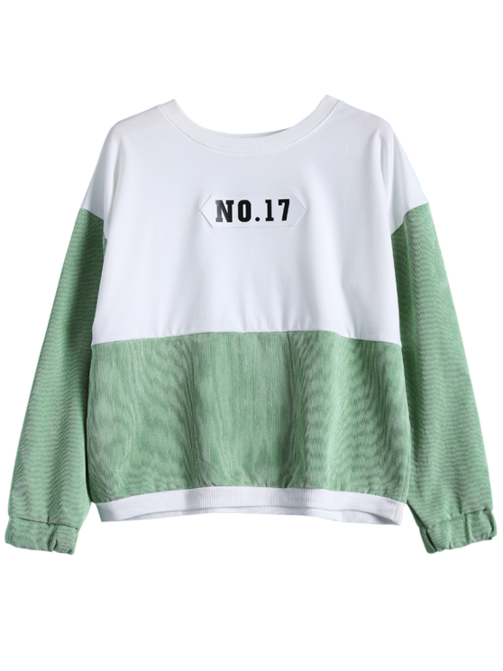 NO.17 Color Block Sweatshirt - WHITE ONE SIZE Mobile