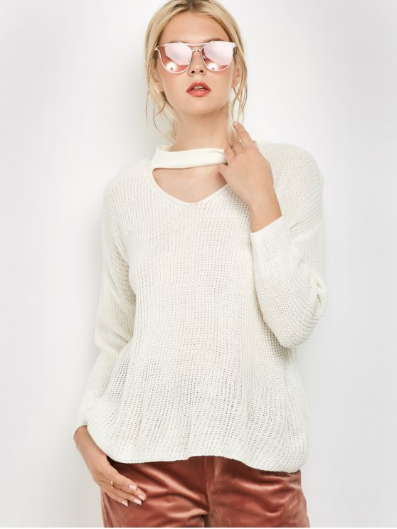 Long Sleeved Choker T-Shirt -   Mobile