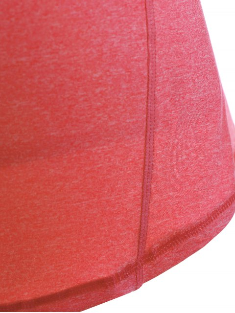 online Space Dye Hooded Sports T-Shirt - FLUORESCENT PINK M Mobile