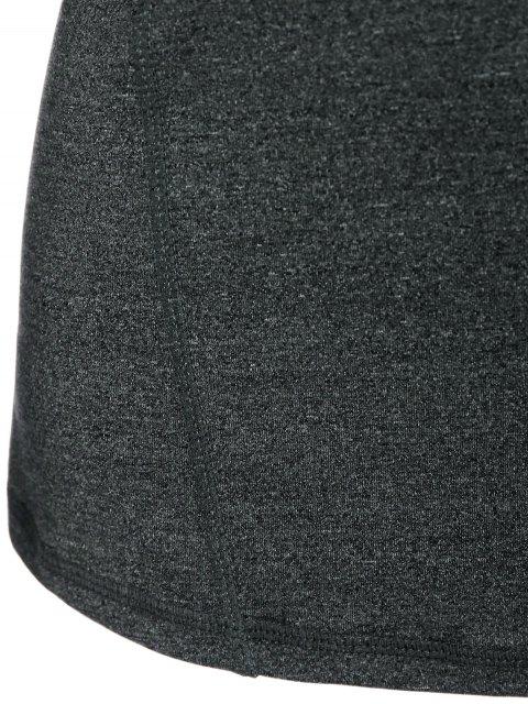 sale Space Dye Hooded Sports T-Shirt - SMOKY GRAY L Mobile