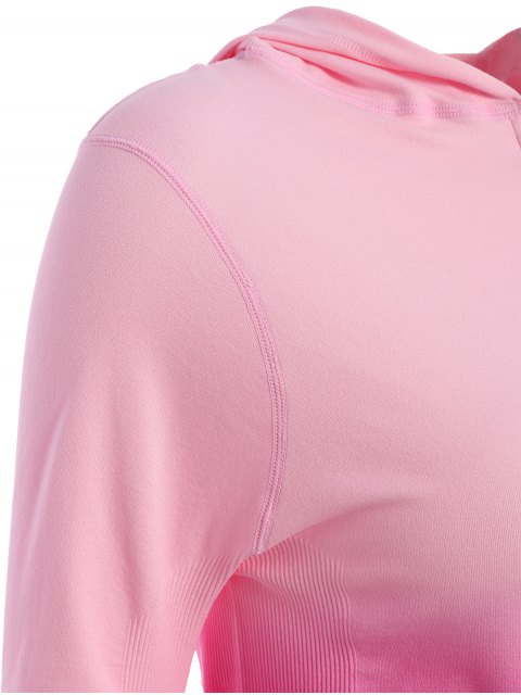 new Activewear Ombre Zip Up Hoodie - ROSE RED M Mobile