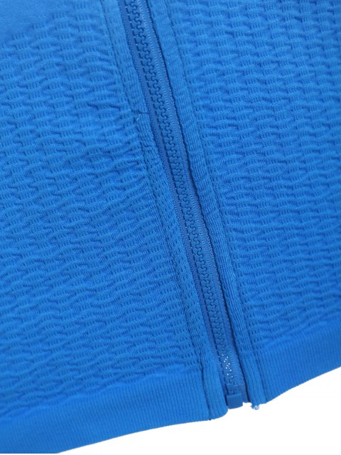 ladies Activewear Ombre Zip Up Hoodie - LAKE BLUE S Mobile