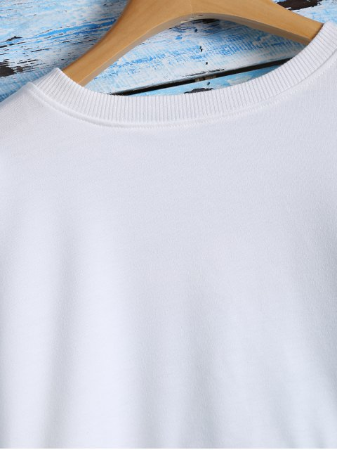womens NO.17 Color Block Sweatshirt - WHITE ONE SIZE Mobile