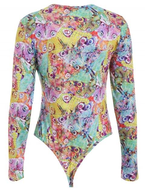 ladies Peacock Pattern Bodysuit - COLORMIX XL Mobile