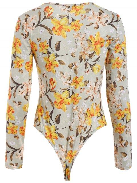 buy Flower Pattern Bodysuit - FLORAL M Mobile