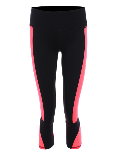 Color Block Cropped Sports Leggings