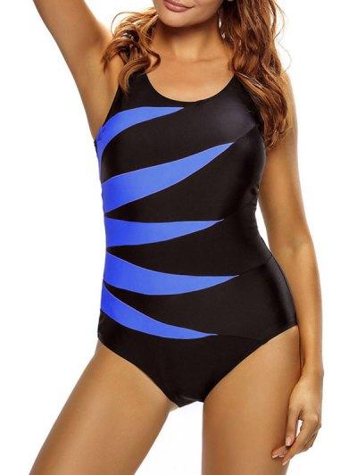 Ate Para Arriba El Traje De Baño De Control De Abdomen - Azul M