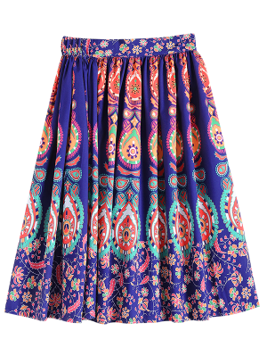 Retro Pattern Ball Gown Skirt