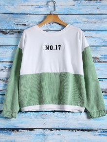 NO.17 Color Block Sweatshirt - White