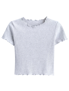 Cropped Flounced T-Shirt