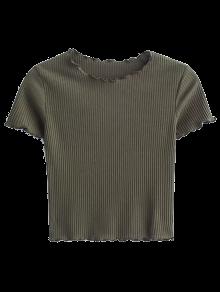 Cropped Flounced T-Shirt