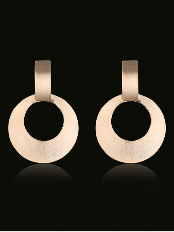 Alloy Vintage Circle Drop Earrings - GOLDEN  Mobile