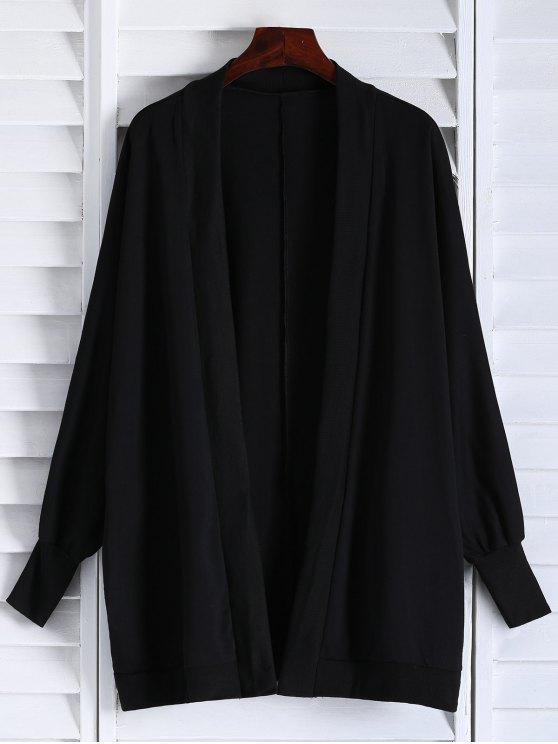 unique Oversized Batwing Sleeve Coat - BLACK ONE SIZE