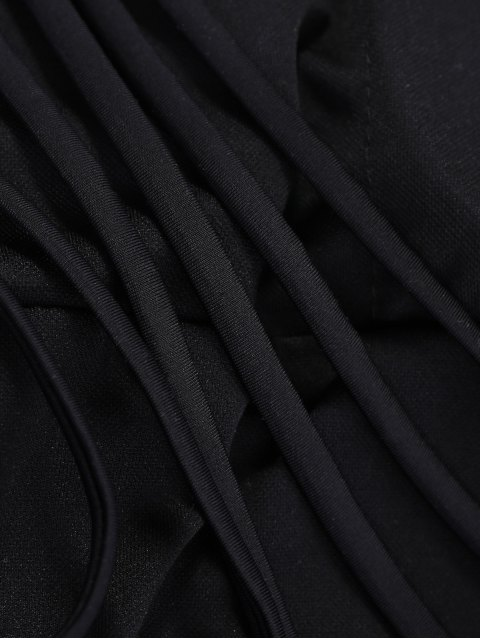 chic One-Shoulder One-Piece Swimwear - BLACK L Mobile