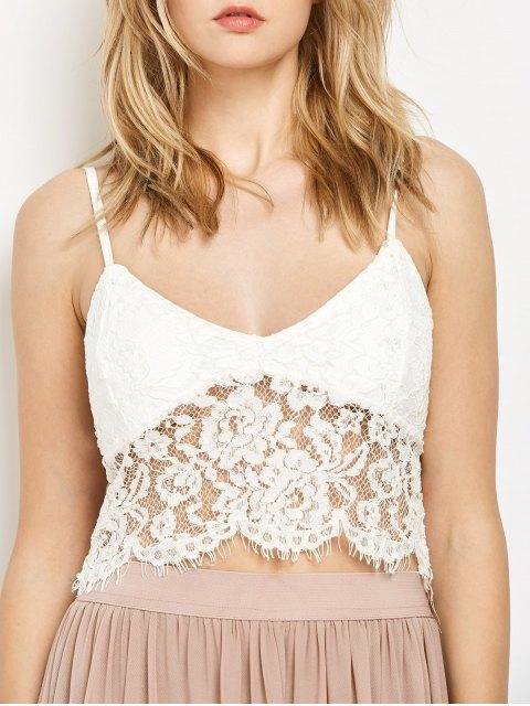 fancy White Lace Bralette - WHITE M Mobile