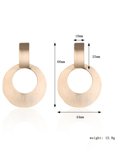 chic Alloy Vintage Circle Drop Earrings - GOLDEN  Mobile