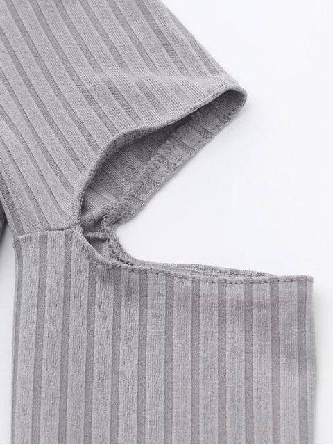 womens Split Long Sleeve Layering Top - WHITE S Mobile