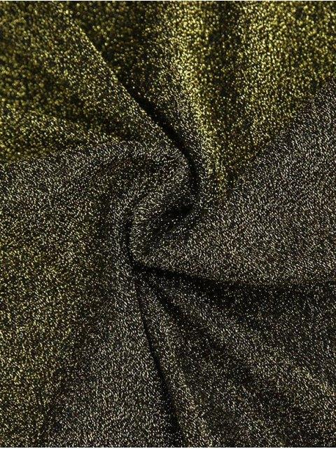 ladies Glitter Tie Shoulder Slip Dress - LIGHT_GOLD M Mobile