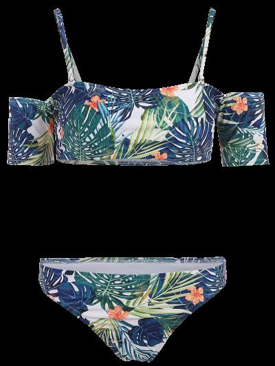 Palm Off The Shoulder Bikini - MULTICOLOR M Mobile