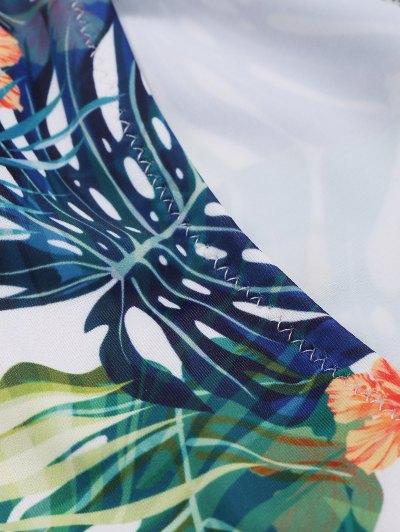 Palm Off The Shoulder Bikini - MULTICOLOR S Mobile