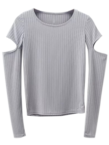 Split Long Sleeve Layering Top