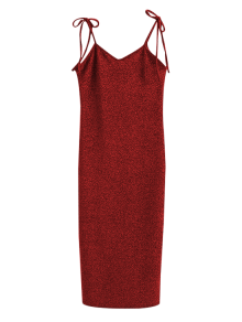 Glitter Tie Shoulder Slip Dress
