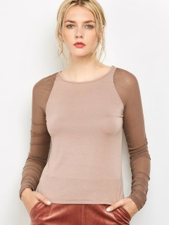 Long Sleeve Layering Tee - Sandy Beige S