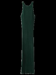Slit Sleeveless Ribbed Bodycon Dress