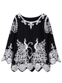 Peacock Applique Swing Top