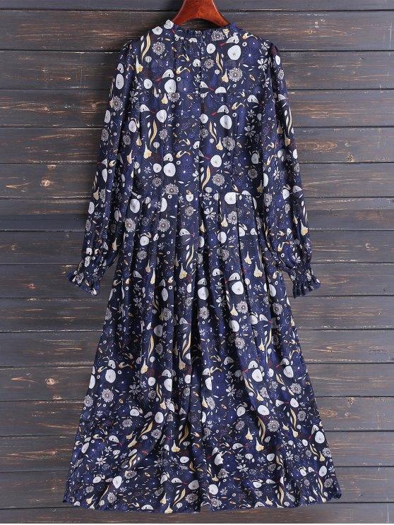 Bohemian Printed Chiffon Maxi Dress - COLORMIX L Mobile
