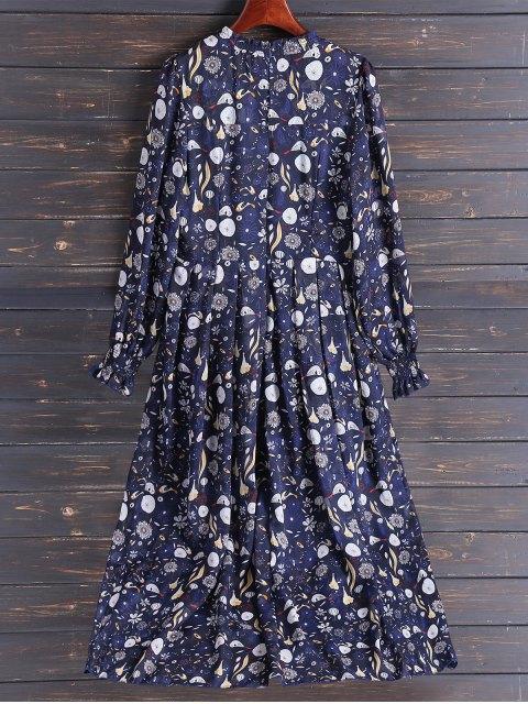 chic Bohemian Printed Chiffon Maxi Dress - COLORMIX L Mobile