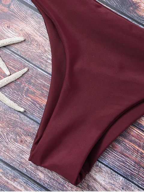womens Wrap Tie Crossover Bikini - BURGUNDY S Mobile