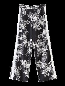 Chiffon Floral Wide Leg Pants