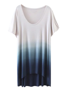 Ombre High Low T-Shirt